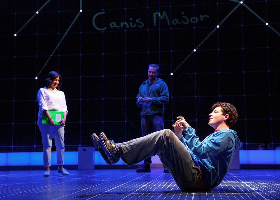"Maria Elena Ramirez as Siobhan, Gene Gillette as Ed and Adam Langdon as Christopher Boone in the touring production of ""The Curious Incident of the Dog in the Night-Time."" Photo: Joan Marcus"