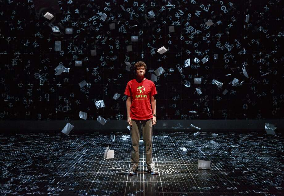 "Adam Langdon as Christopher Boone in the touring production of ""The Curious Incident of the Dog in the Night-Time."" Photo: Joan Marcus"