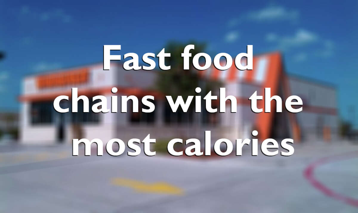 Keep going for a look at the fast food chains with the most calories.