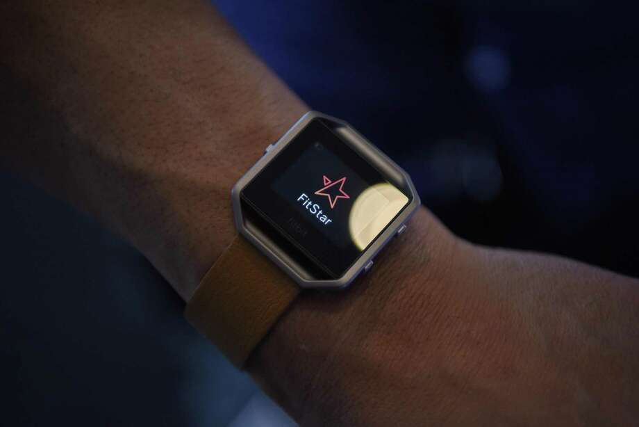 The FitBit Inc. Blaze fitness tracker at the 2016 Consumer Electronics Show in Las Vegas on Jan. 5, 2016. A study says that users should consider data from such devices as ballpark estimates. Photo: David Paul Morris /Bloomberg / © 2016 Bloomberg Finance LP