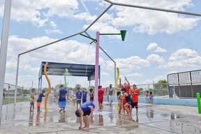 Several children have fun Wednesday June 07, 2017 at Dr. Cecilia May Moreno Splash park.