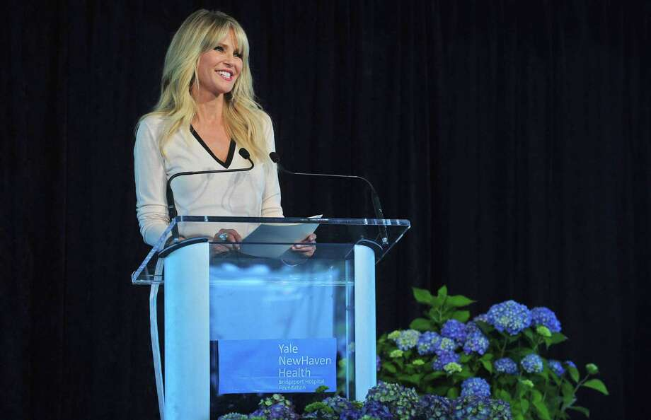 Christie Brinkley gives her keynote address as the celebrity speaker at the Norma Pfriem Breast Centers 2017 Rose of Hope Luncheon Wednesday, June 7, 2017, at the Fairfield County Hunt Club, in Westport, Conn. The annual event benefits the centers programs and services for women with breast cancer and their families. Merrill Lynch Wealth Management is the lead corporate sponsor and will receive the Rose of Hope Award for its philanthropic support of the breast center. Photo: Erik Trautmann / Hearst Connecticut Media / Norwalk Hour