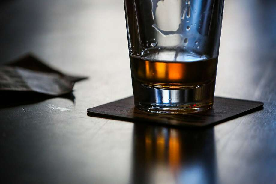 A beer on the counter at Doc's Clock bar. Photo: Gabrielle Lurie, The Chronicle