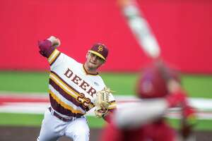 Deer Park pitcher Adrian Gonzales played a pivotal role in his team advancing to the Class 6A state tournament, holding Travis to only one run in the decisive third game of their Region III final. That came after he also appeared in relief during Game 2.