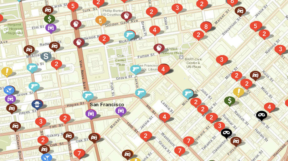BART releases map showing crime data - SFGate