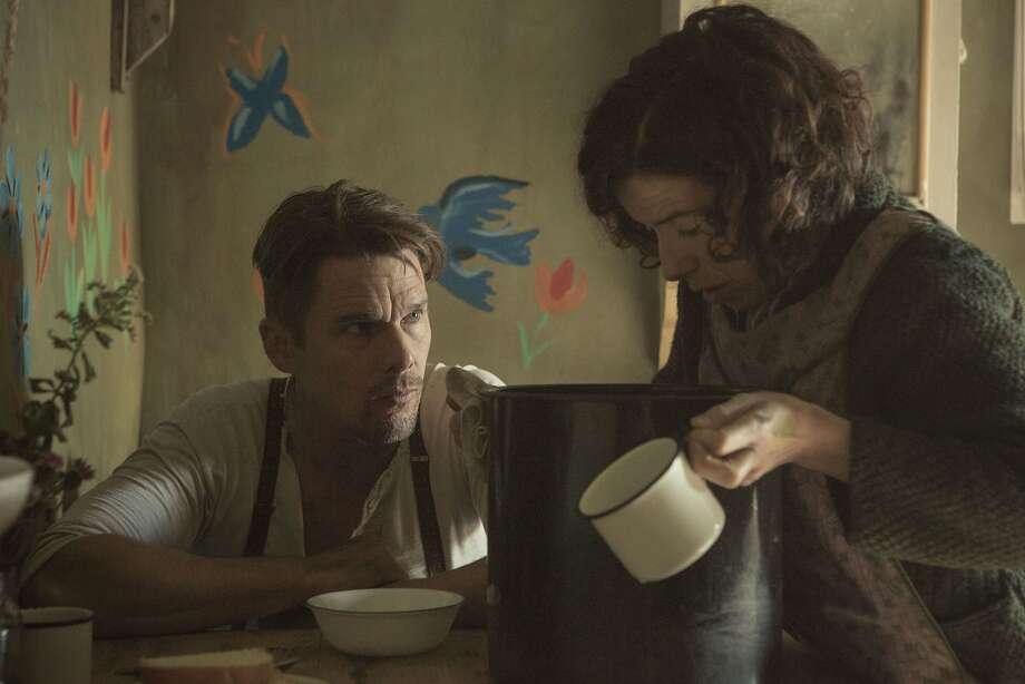 Ethan Hawke and Sally Hawkins in the Maud Lewis biopic. Photo: Courtesy Of Sony Classics