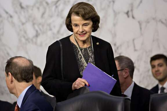 Senator Dianne Feinstein, a Democrat from California, arrives to a Senate Intelligence Committee hearing in Washington, D.C., U.S., on Wednesday, June 7, 2017. Director of National Intelligence Daniel Coats told associates in March that U.S. President Donald Trump had asked him to intervene with then-Federal Bureau of Investigation Director James Comey to get the FBI to back off its focus on former National Security Adviser Michael Flynn and Russia probe, the Washington Post reported yesterday. Photographer: Andrew Harrer/Bloomberg