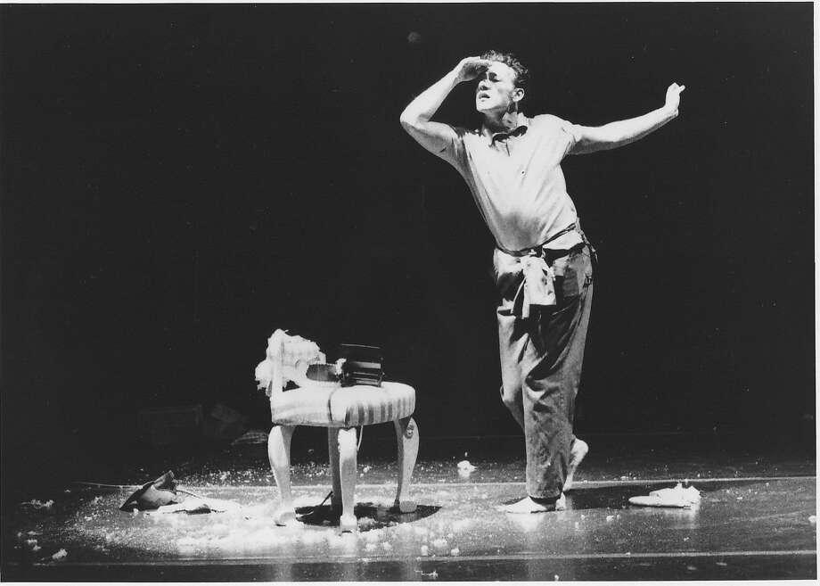 """Joe Goode performs in """"29 Effeminate Gestures."""" Photo: Bill Pack"""
