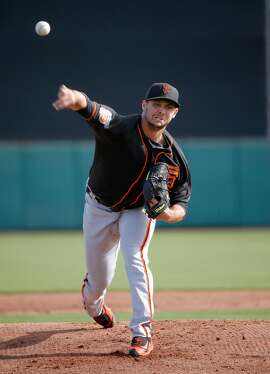 Tyler Beede, 63 pitches as the San Francisco Giants play an intrasquad game during spring training at Scottsdale Stadium on Tues. March 1,  2016, in Scottsdale, Arizona.