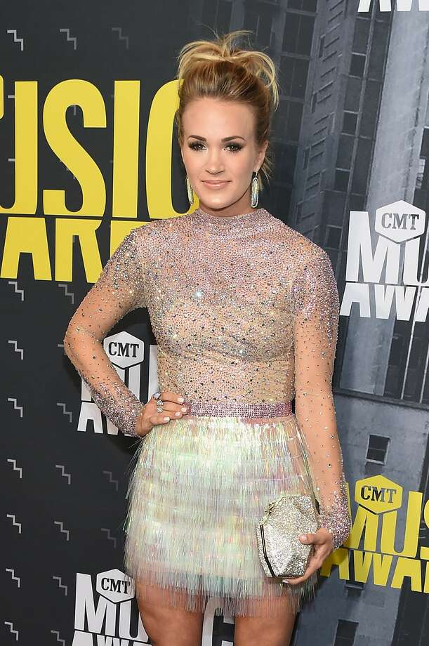 Singer-songwriter Carrie Underwood attends the 2017 CMT Music Awards at the Music City Center on June 7, 2017 in Nashville, Tennessee.Keep clicking to see which stars were named the best and worst dressed at the 2017 CMT Awards. Photo: Michael Loccisano/Getty Images For CMT
