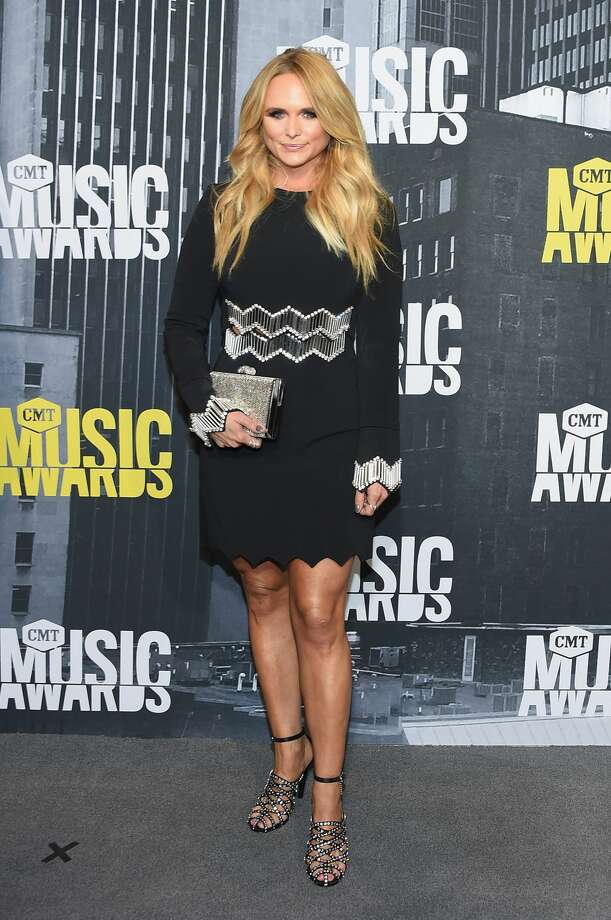 Worst:Miranda Lambert plays it way too safe with this black mini dress. Photo: Michael Loccisano/Getty Images For CMT