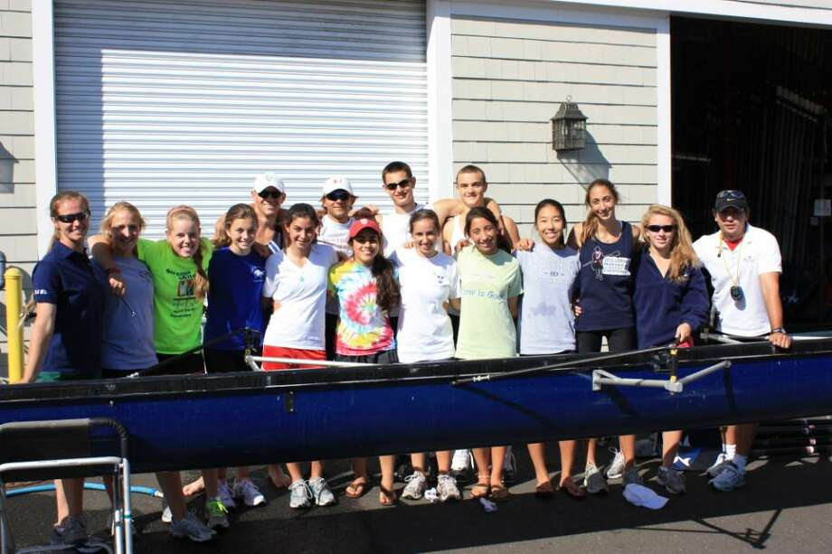 The Greenwich Water Club crew team. Photo: Contributed Photo / Greenwich Time Contributed