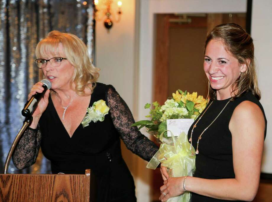 Washington's Glenholme School Executive Director Maryann Campbell, left, recognizes Anna Kallman with the Devereux Supervisory Excellence Award at the Heritage Hotel in Southbury May 6. Photo: Courtesy Of Glenholme School / The News-Times Contributed