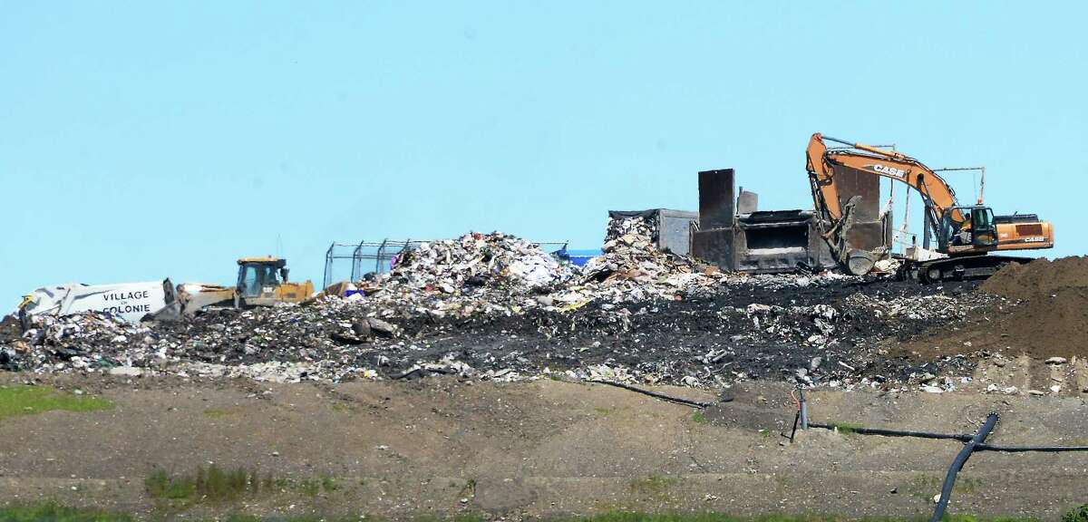 The Colonie landfill as seen from Green Mountain Drive Wednesday June 7, 2017 in Colonie, NY. (John Carl D'Annibale / Times Union)