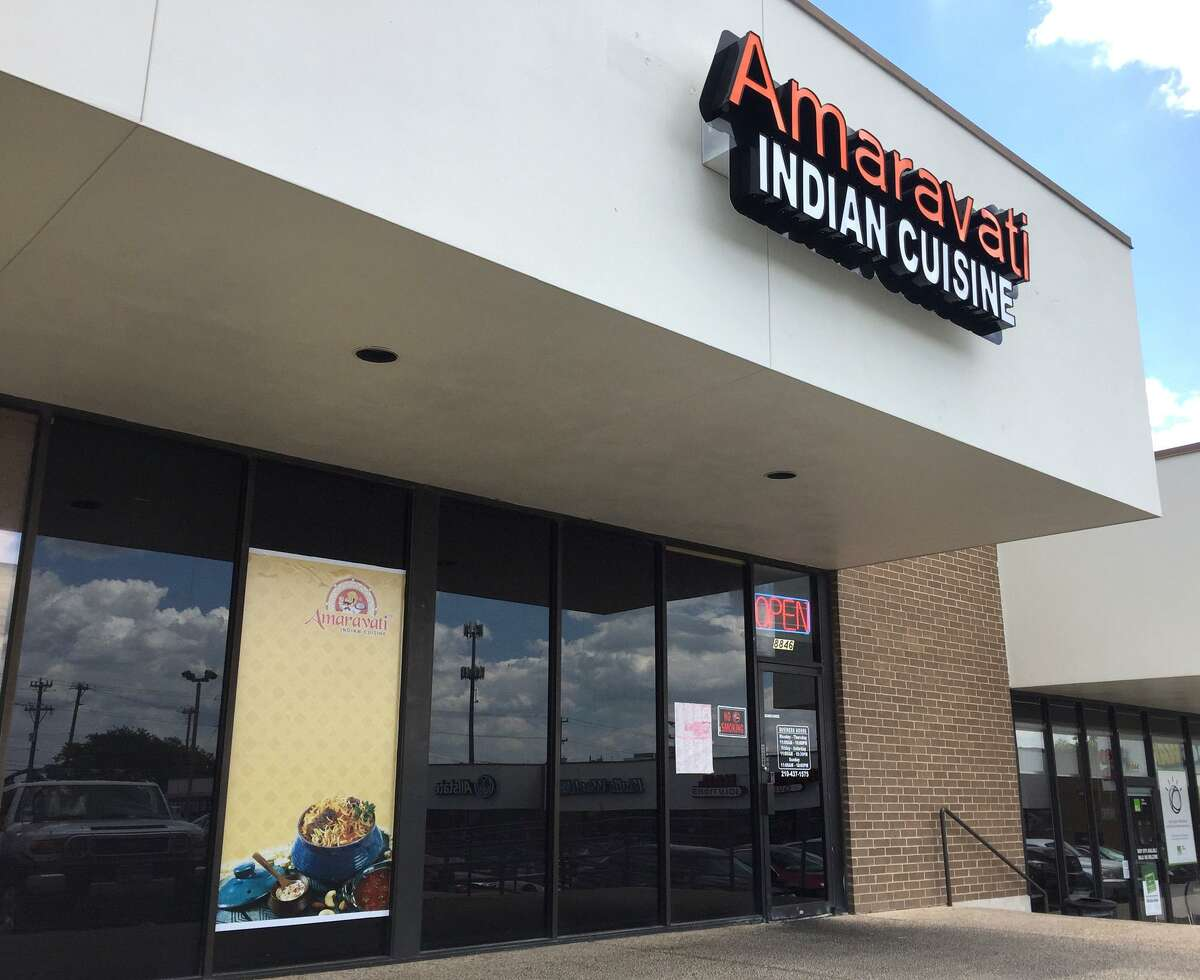 Amaravati: 8846 Huebner Road, San Antonio, Texas 78240Date: 06/08/2017 Score: 77Highlights: Flies seen throughout the establishment, employees did not properly wash hands before engaging in food, toxic chemicals stored near food preparation areas, establishment did not have a current/valid permit.