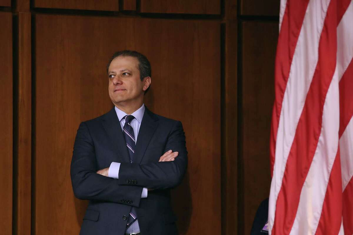 WASHINGTON, DC - JUNE 08: Former United States Attorney for the Southern District of New York Preet Bharara attends the Senate Intelligence Committee where FBI Director James Comey is sent to testify in the Hart Senate Office Building on Capitol Hill June 8, 2017 in Washington, DC. Comey said that President Donald Trump pressured him to drop the FBI's investigation into former National Security Advisor Michael Flynn and demanded Comey's loyalty during the one-on-one meetings he had with president. (Photo by Drew Angerer/Getty Images) ORG XMIT: 700058722