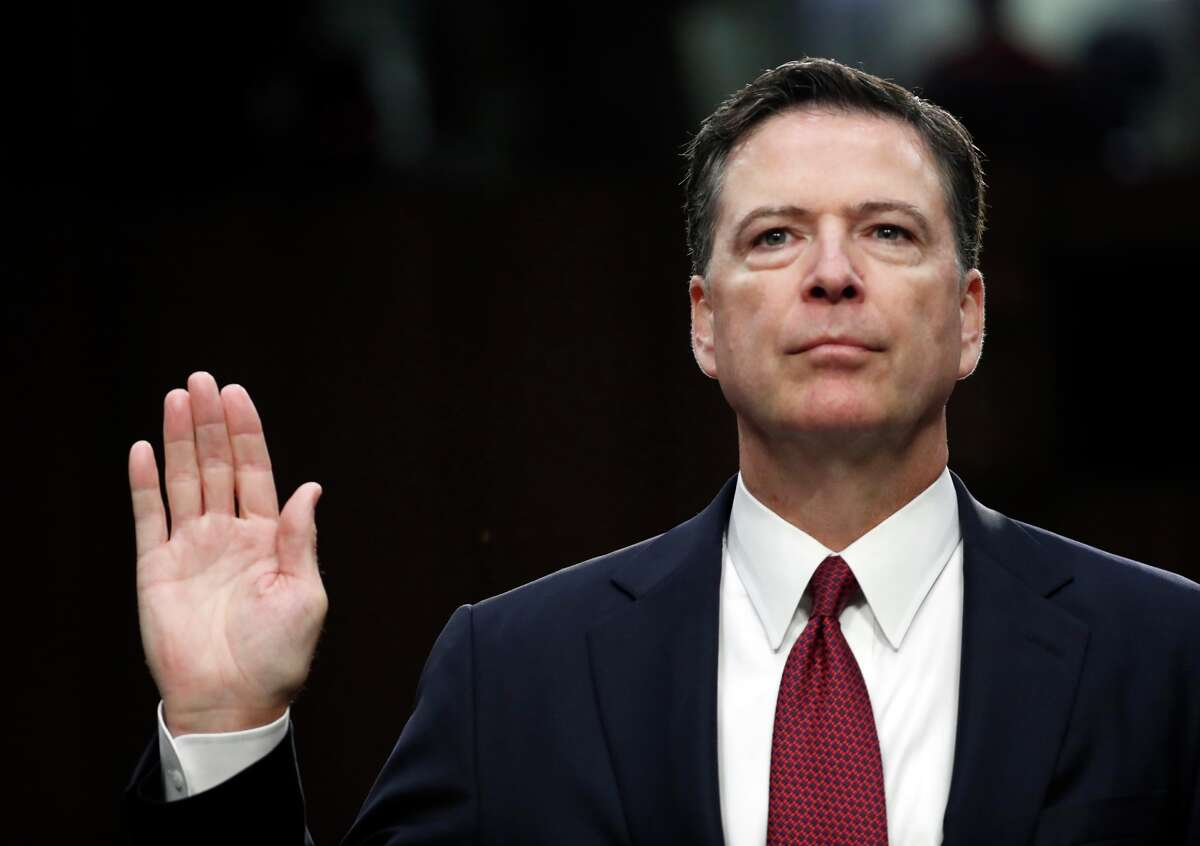 """In response to the Trump administration claiming the FBI was in disarray and poorley led after Comey was fired, the former director said:""""Those were lies, plain and simple."""""""