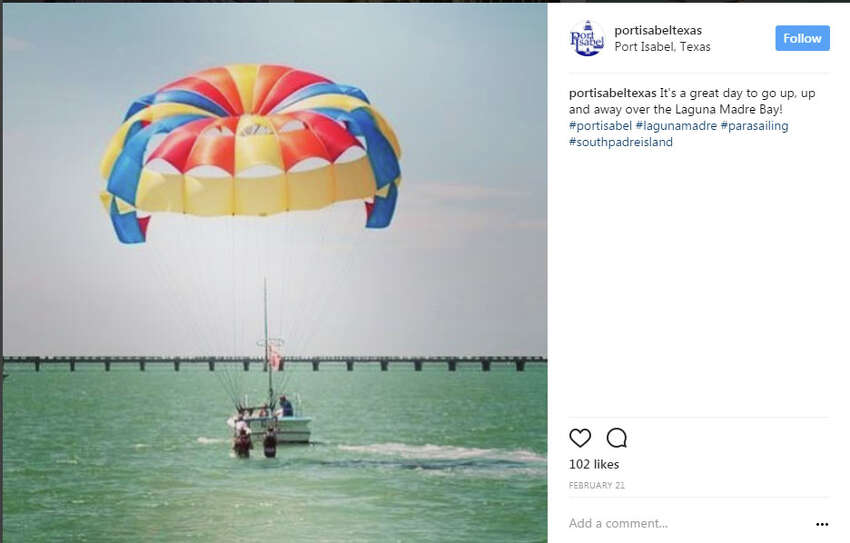 Get a better view while parasailingportisabeltexas: