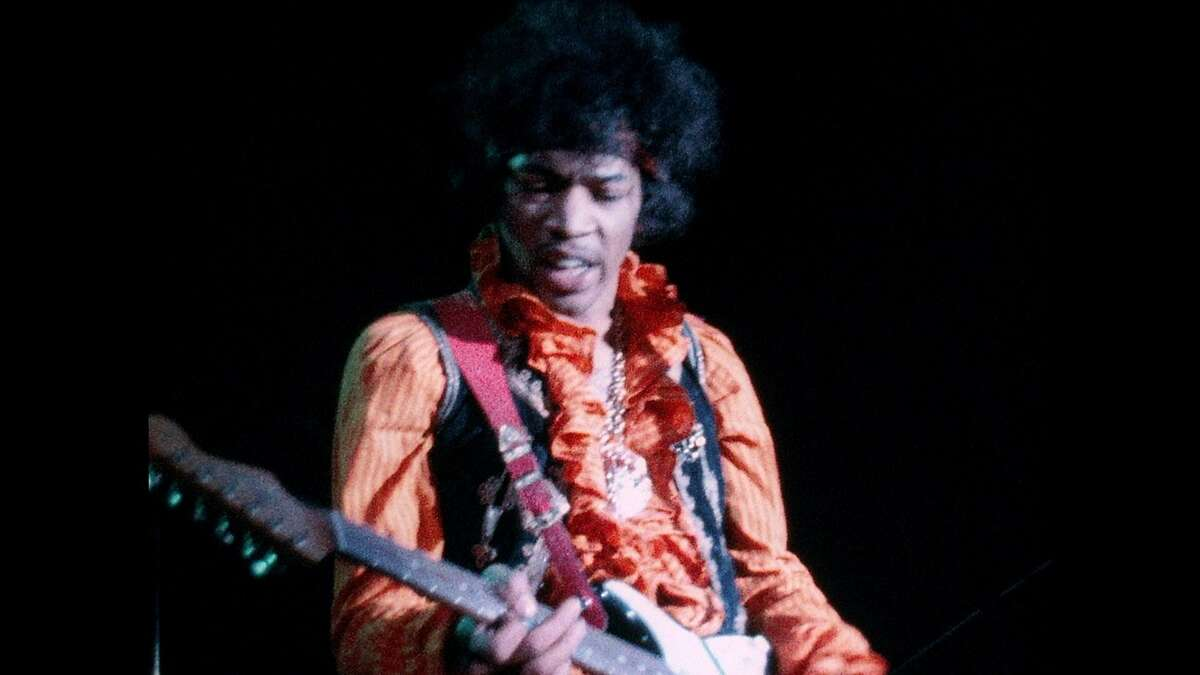 Jimi Hendrix's incendiary set was captured in the film