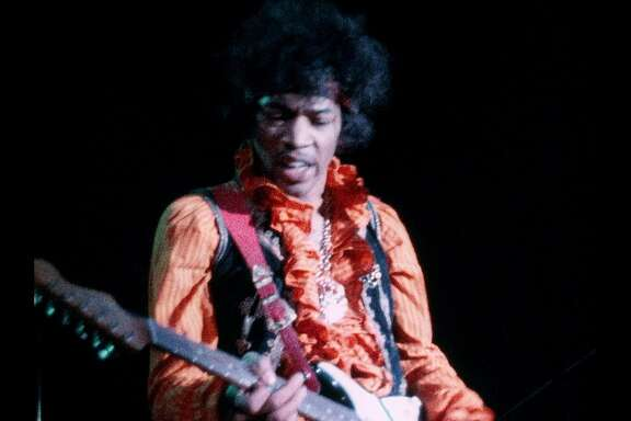 "Jimi Hendrix at the 1967 Monterey Pop Festival in D.A. Pennebaker's ""Monterey Pop"" (1968)."