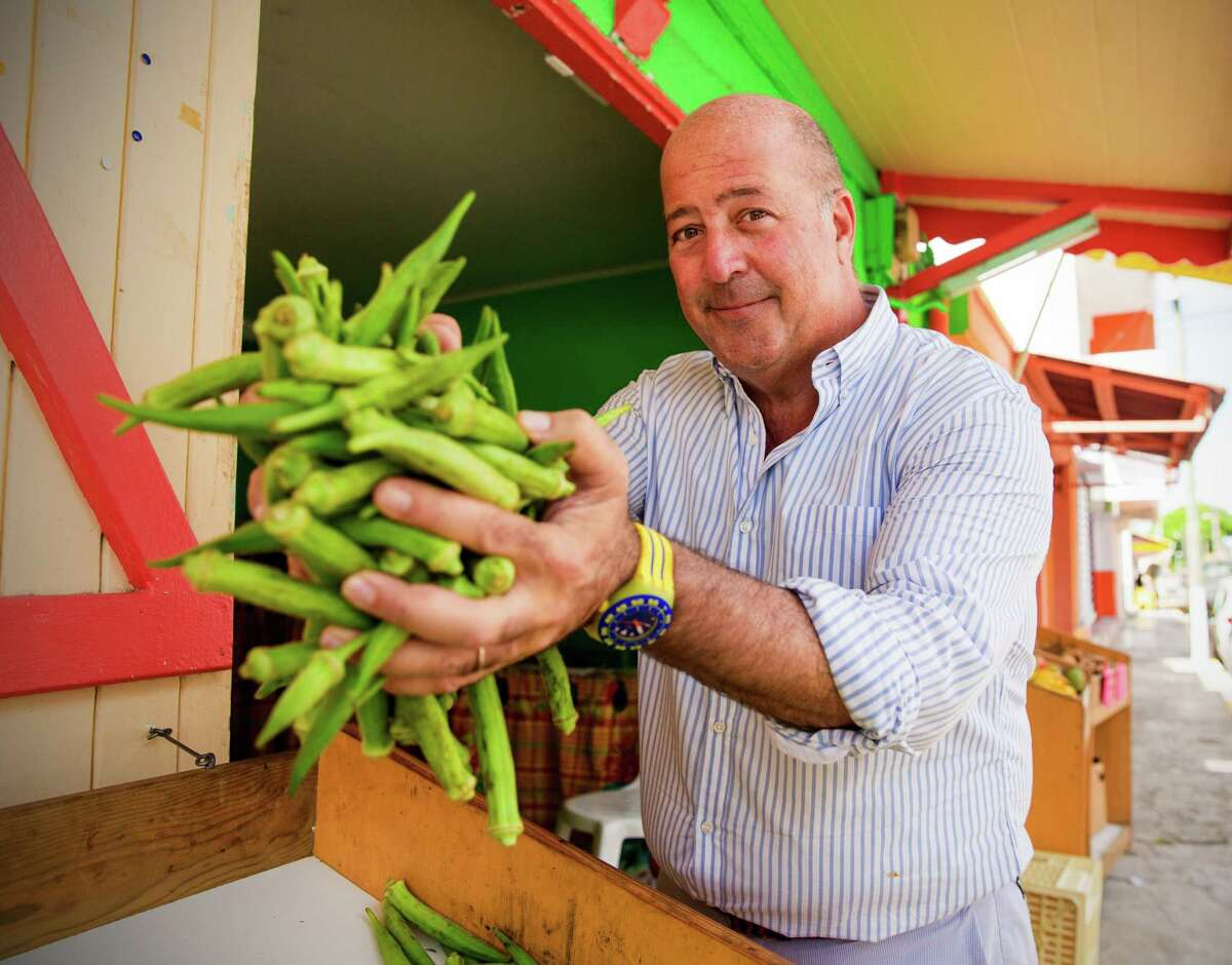 """Andrew Zimmern, host of """"Delicious Destinations"""" on Travel Channel, brings viewers the spectacular sights, sounds and, most important, tastes of San Antonio in a new episode."""
