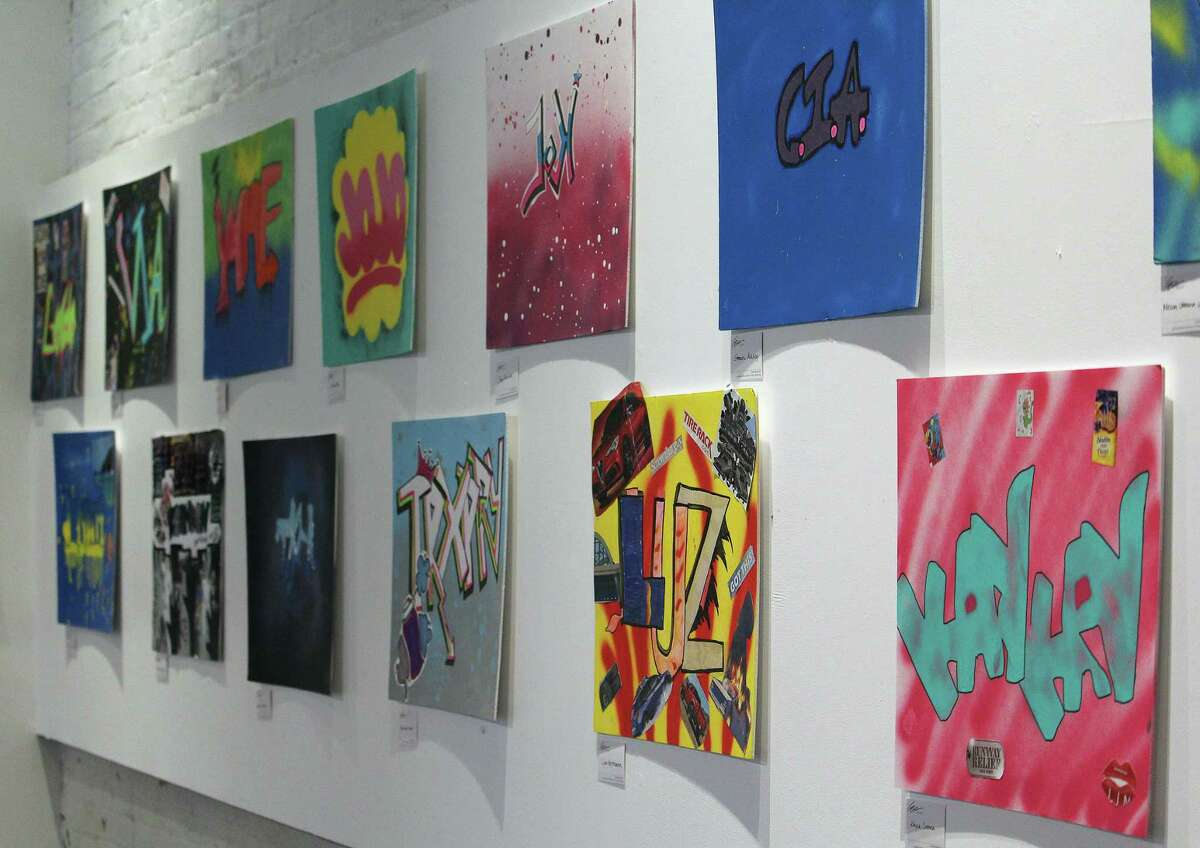 Artwork by Bridge Academy sophomores created during the Westport Arts Center's most recent