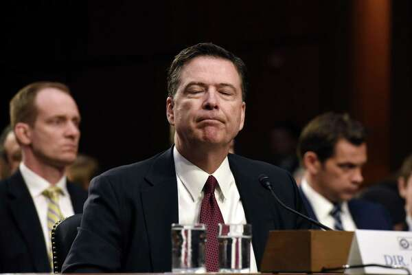 Former FBI Director James Comey testifies during a U.S. Senate Select Committee on Intelligence hearing on Thursday. His remarks point to the seriousness of the issue of Russian meddling in the U.S. election and possible obstruction of justice by the president in the matter.