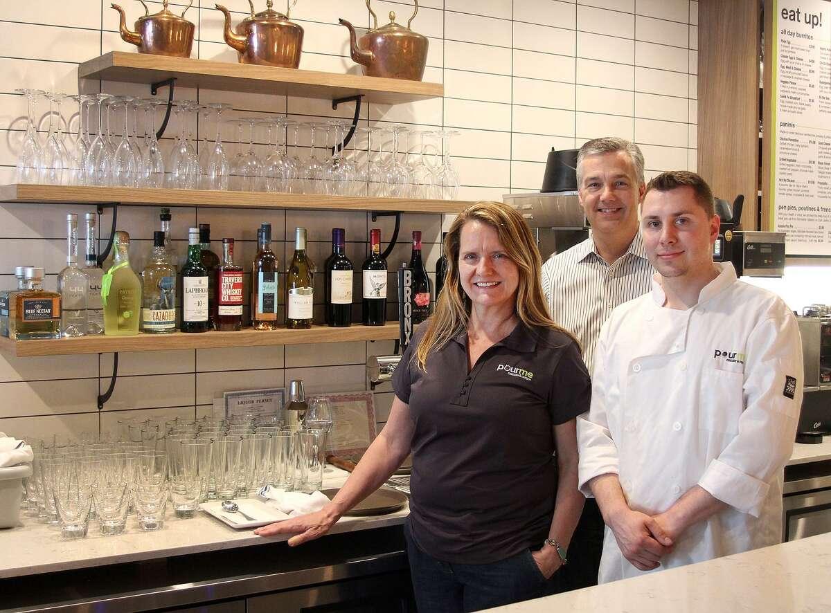 Pour Me owner Andrea Gartner, consultant Mark Moeller and chef Matt Rieve.