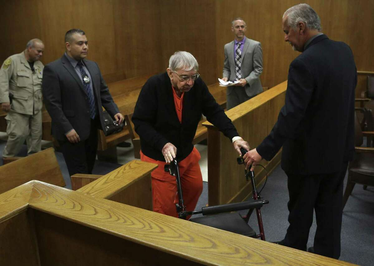 John Feit, a priest accused of murdering Irene Garza back in 1960, attends a hearing in the Hidalgo County Courthouse in Edinburg, TX on Wednesday, May 24, 2017.
