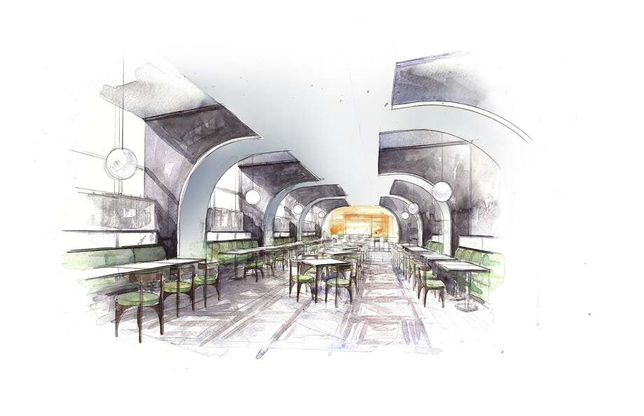 An artist rendering of Lucienne, the upscale restaurant in Hotel Alessandra in downtown Houston. The hotel is expected to open in October 2017. Jose Hernandez will be executive chef of Lucienne. Photo: Valencia Group