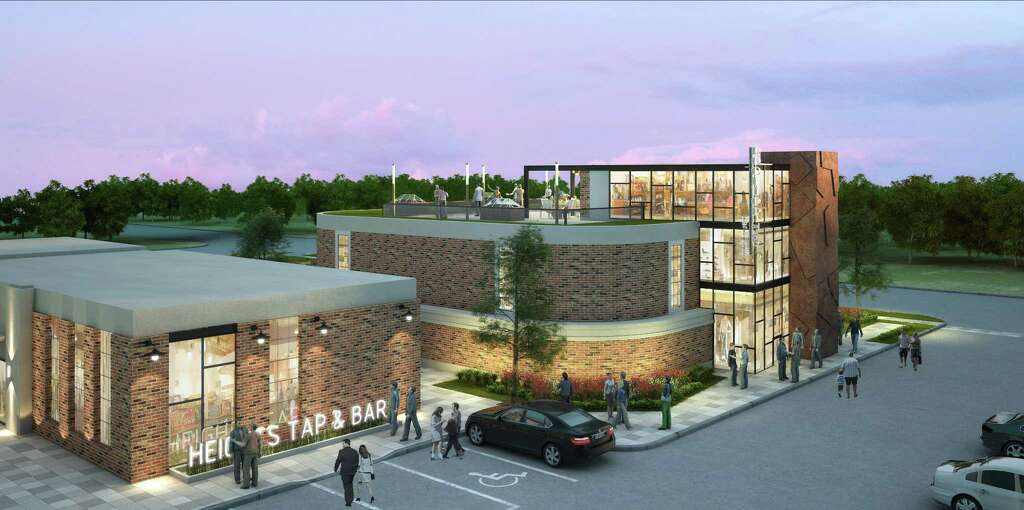 Braun Enterprises announced plans to redevelop the Heights waterworks on 19th Street at Nicholson. The project would include four restaurant buildings and an additional proposed 5,000-square-foot retail building fronting 19th Street..Jared Tipps of Tipps Architecture is designing the renovation and new building. Photo: Braun Enterprises