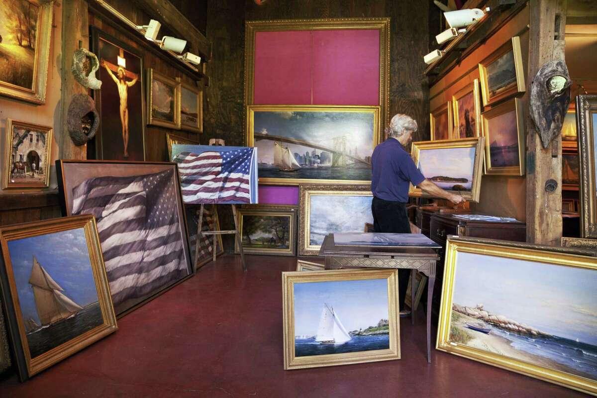 Peter Layne Arguimbau in his studio.