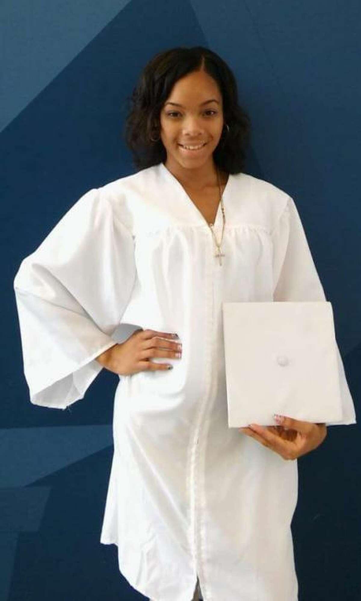 Diamond Walker of Bridgeport, Conn. is a senior at AF Amistad High School in New Haven.
