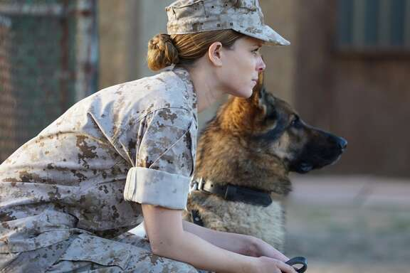 "Kate Mara stars as a female K9 handler in Iraq in ""Megan Leavey."""