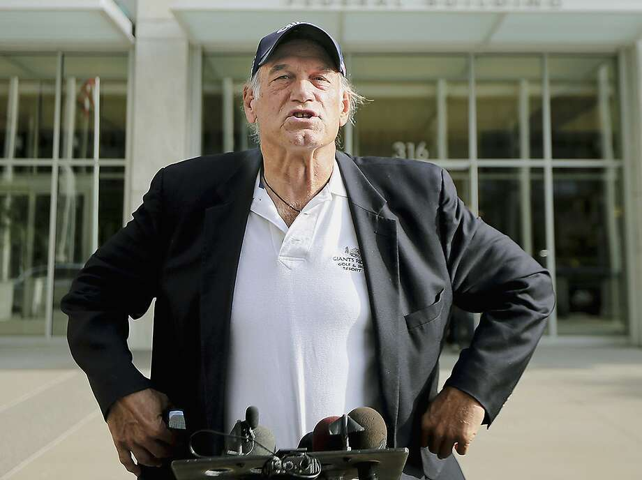 """FILE - In this Oct. 20, 2015, file photo, former Minnesota governor and professional wrestler Jesse Ventura talks to reporters outside the federal building in St. Paul, Minn. Ventura has a new commentary show on Russian state television called """"The World According to Jesse."""" It's expected to being airing soon on RT America, the Washington arm of the international network RT. (Elizabeth Flores/Star Tribune via AP, File) Photo: Elizabeth Flores, Associated Press"""