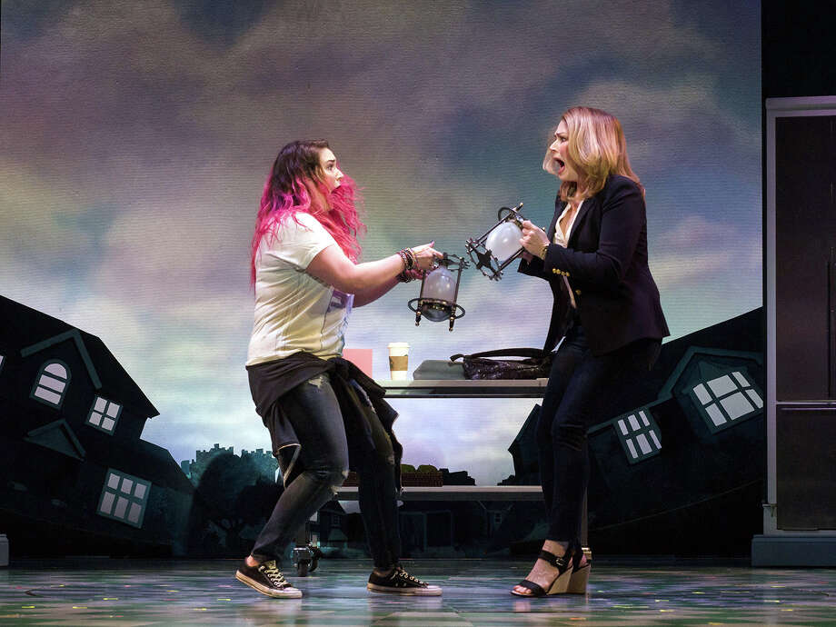 "Emma Hunton (left) and Heidi Blickenstaff in Disney's ""Freaky Friday,"" appearing at the Alley Theatre in Houston. Photo: Jim Carmody / Copyright 2017 © Jim Carmody"