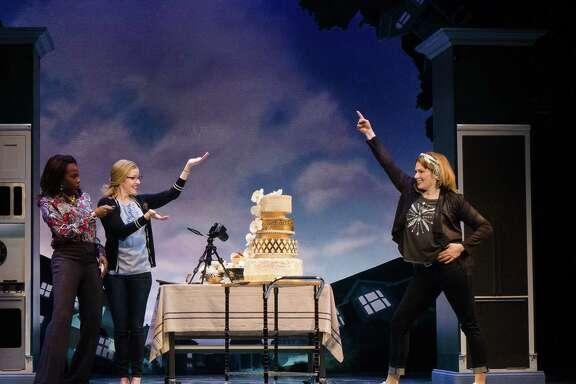 "Jeannette Bayardelle, from left, Alet Taylor and Heidi Blickenstaff star in Disney's""Freaky Friday."""