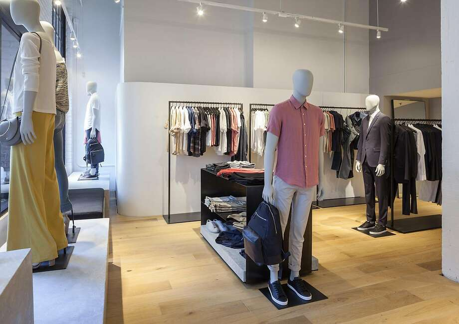 Theory's new Jackson Square boutique opened in April and features men's, women's and accessories collections. Photo: Theory