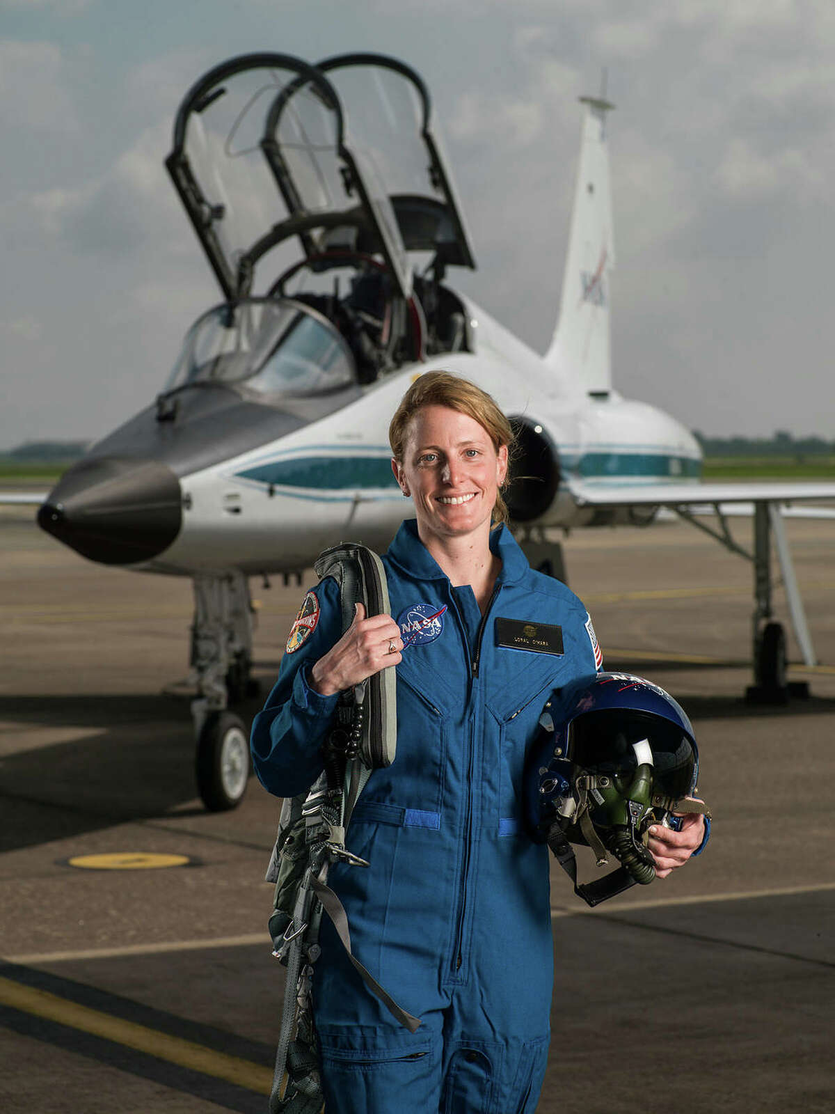 Loral O'Hara, 34, is the second Houstonian in NASA's history to be selected as a member of an astronaut candidate class. She'll report to the Johnson Space Center in August. Photo provided by NASA.