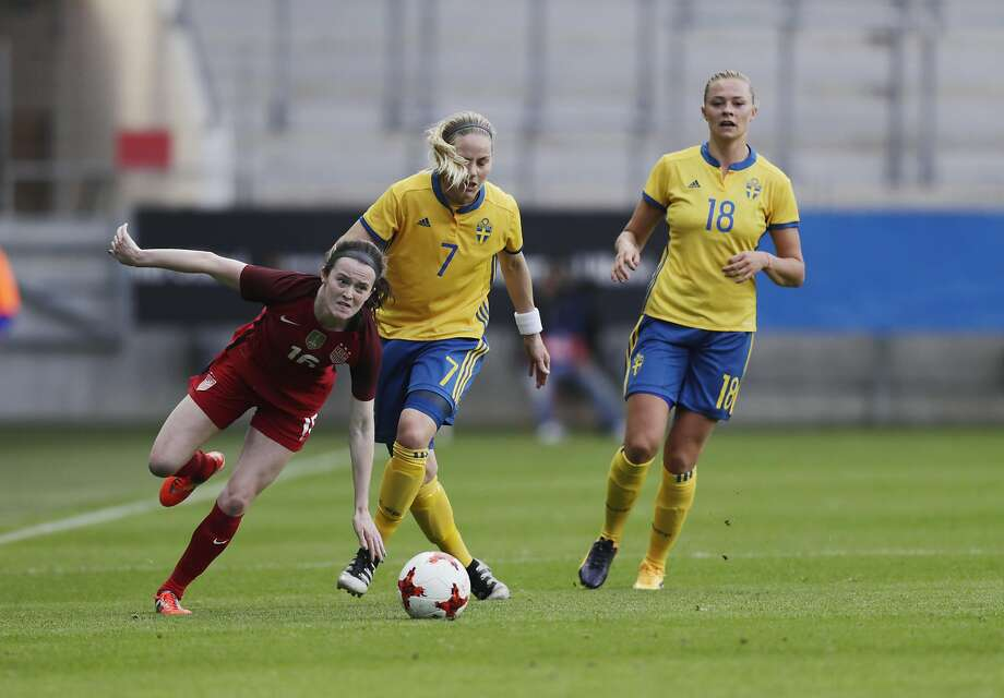 U.S. GOTHENBURG, SWEDEN - JUNE 08: Rose Lavelle of USA and Lisa Dahlkvist of Sweden competes for the ball during the international friendly between Sweden and USA at Ullevi Stadium on June 8, 2017 in Gothenburg, Sweden. (Photo by Nils Petter Nilsson/Ombrello/Getty Images) Photo: Nils Petter Nilsson/Ombrello, Getty Images