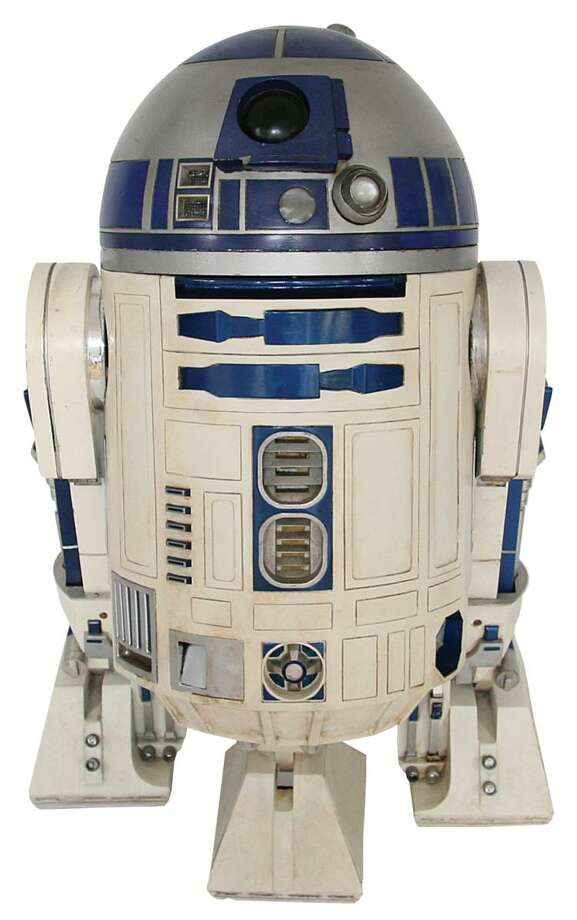 "An R2-D2 unit used in the original ""Star Wars"" films is up for auction. Photo: Invaluable.com"