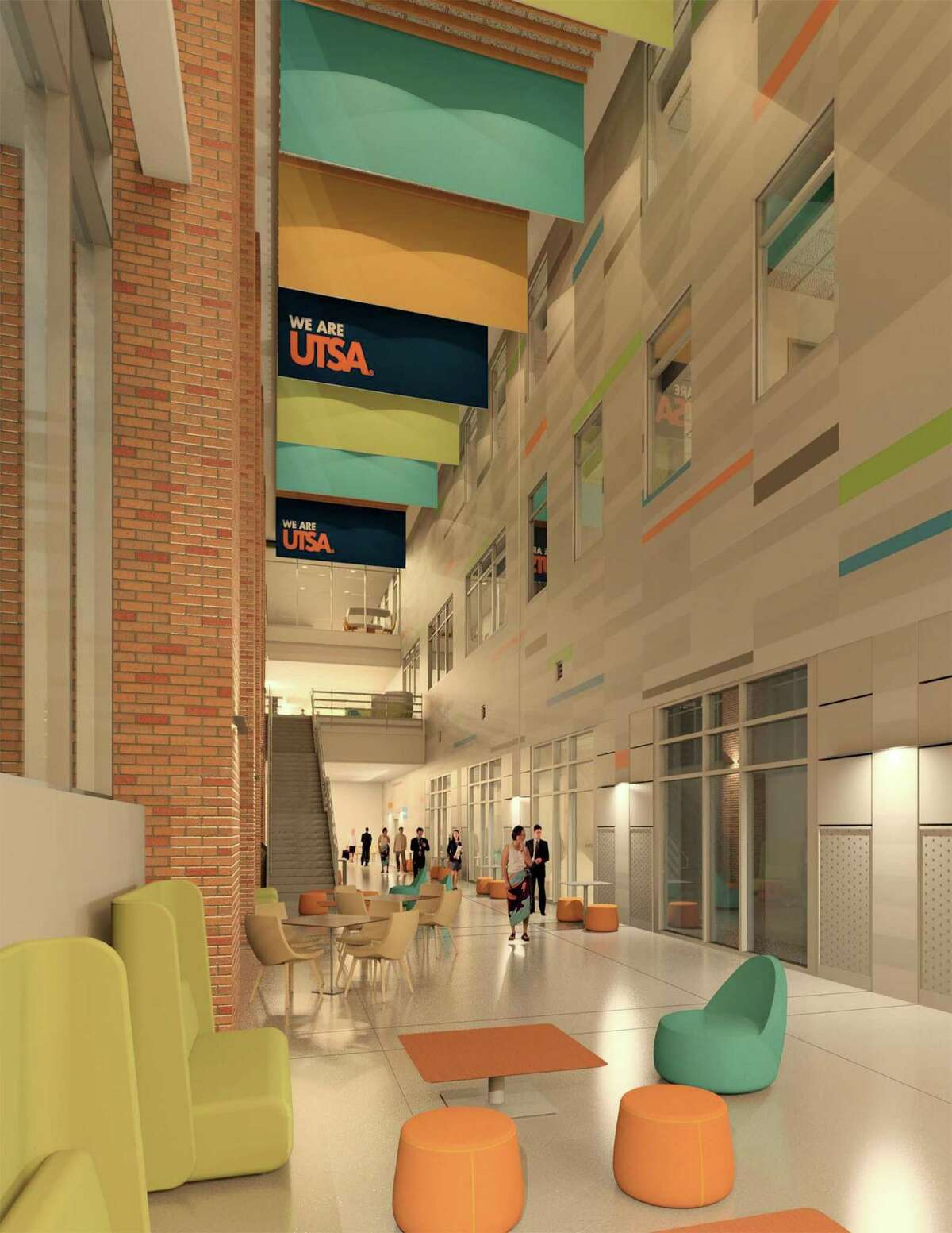 A rendering of University of Texas at San Antonio?'s new science and engineering building, which will house a two-story distillation column to accompany the university?'s new chemical engineering program. UTSA officials are hosting a ground-breaking ceremony on Friday and say the building should be up and running by 2020.