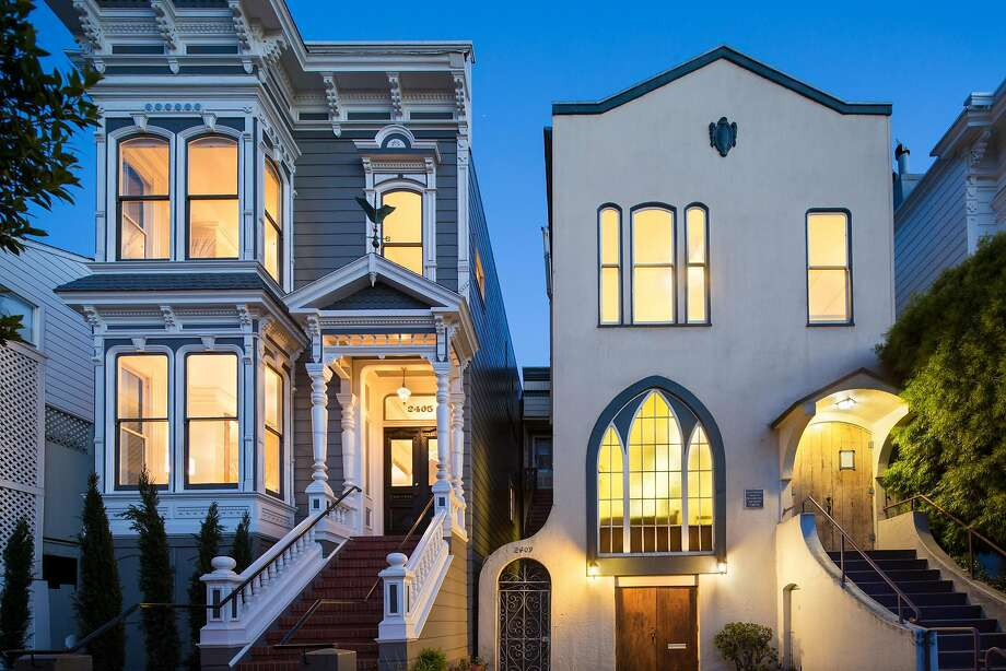 2405 Washington St. in Pacific Heights features two modernized units within a single-family home. Photo: Marcell Puszar