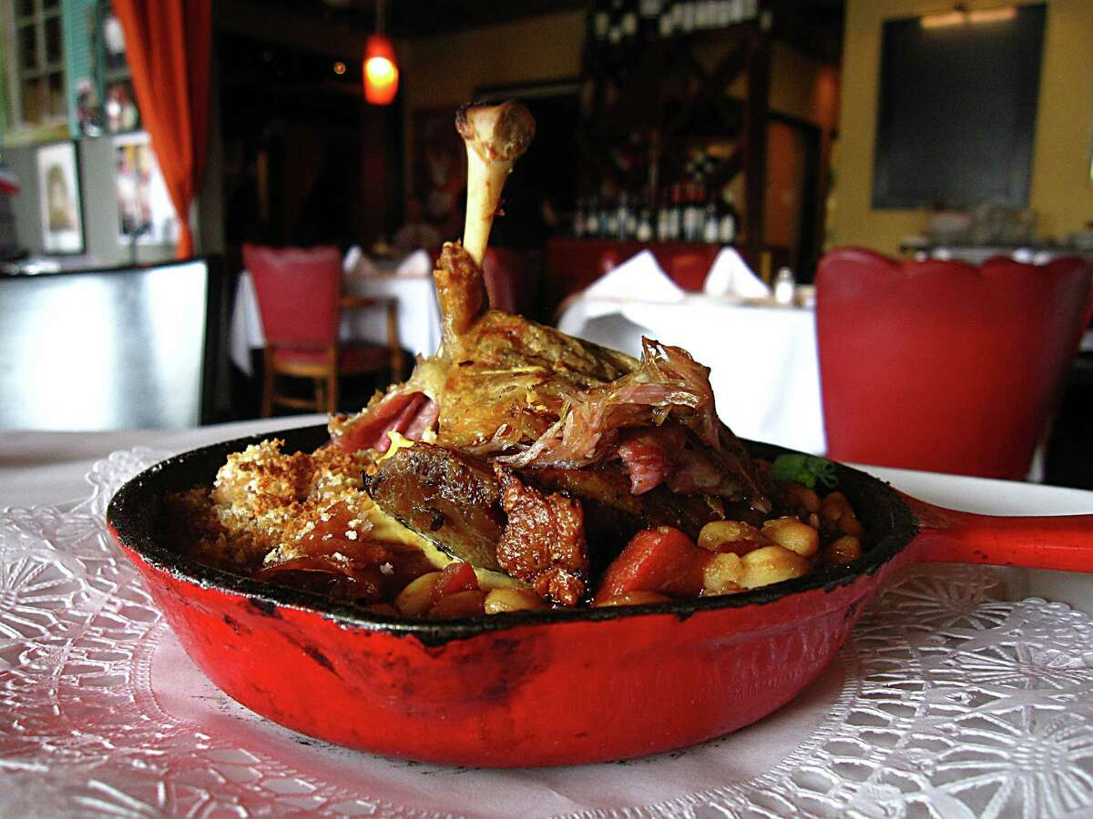 Duck cassoulet at Chez Vatel Bistro, which is closing June 18 after 18 years.