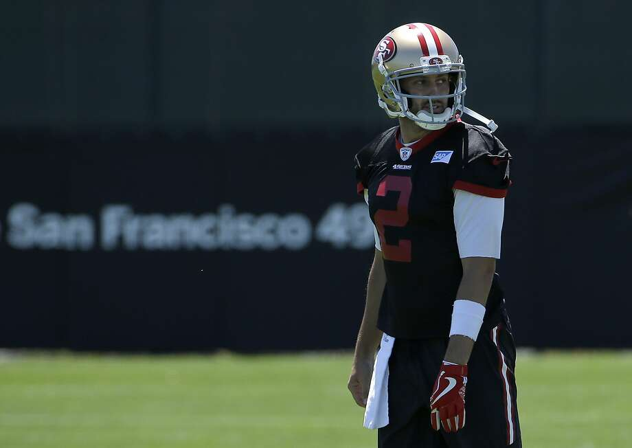 San Francisco 49ers quarterback Brian Hoyer during the team's organized team activity at its NFL football training facility in Santa Clara, Calif., Wednesday, May 31, 2017. (AP Photo/Jeff Chiu) Photo: Jeff Chiu, Associated Press