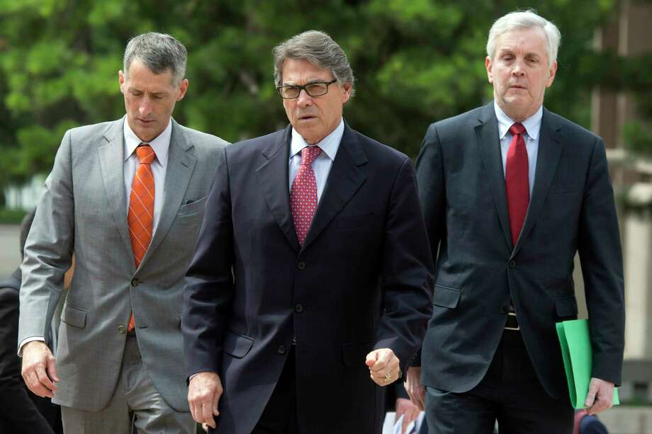 U.S. Energy Secretary Rick Perry, center, arrives for a meeting with Chinese Vice Premier Zhang Gaoli at the Zhongnanhai leaders compound in Beijing Thursday, June 8, 2017. (AP Photo/Ng Han Guan, Pool) Photo: Ng Han Guan, STF / Copyright 2017 The Associated Press. All rights reserved.