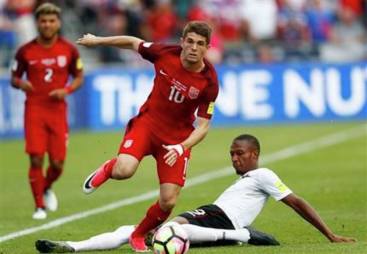 18-year old Christian Pulisic has five goals and five assists in five U.S. World Cup Qualifying games this cycle. He scored two on Thursday to lead the Americans to a 2-0 win over Trinidad & Tobago.