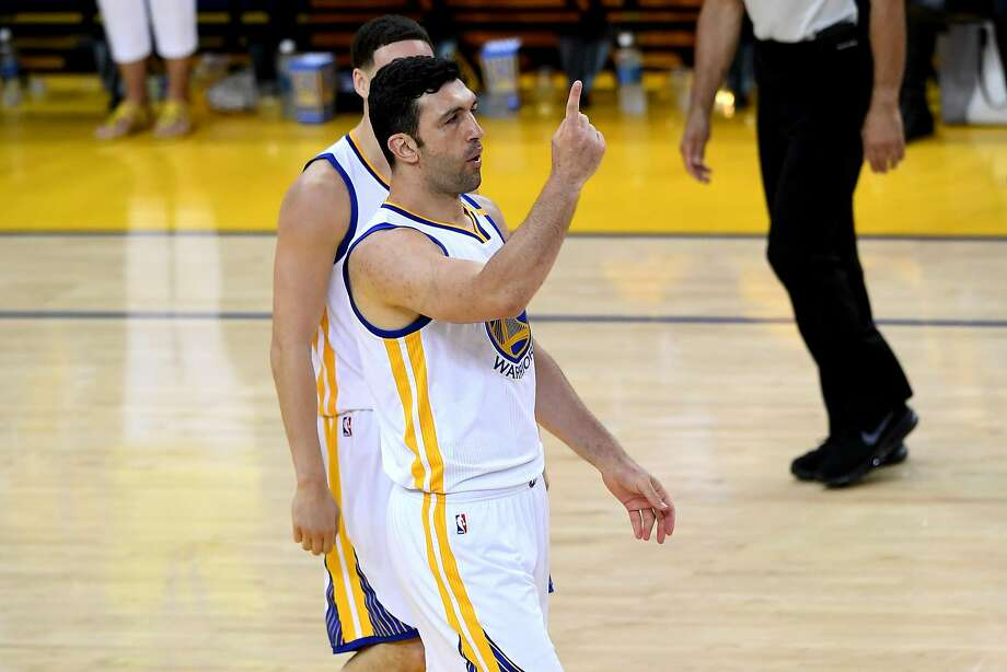 OAKLAND, CA - JUNE 01:  Zaza Pachulia #27 of the Golden State Warriors reacts to a play against the Cleveland Cavaliers in Game 1 of the 2017 NBA Finals at ORACLE Arena on June 1, 2017 in Oakland, California. NOTE TO USER: User expressly acknowledges and agrees that, by downloading and or using this photograph, User is consenting to the terms and conditions of the Getty Images License Agreement.  (Photo by Thearon W. Henderson/Getty Images) Photo: Thearon W. Henderson, Getty Images