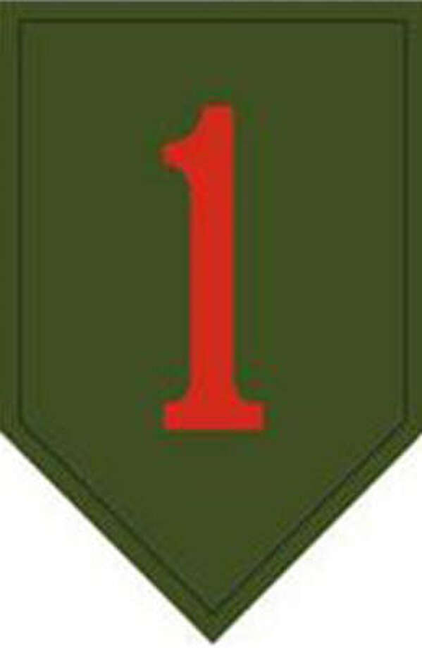 The unit patch of the Army's 1st Infantry Division, known as the Big Red One.