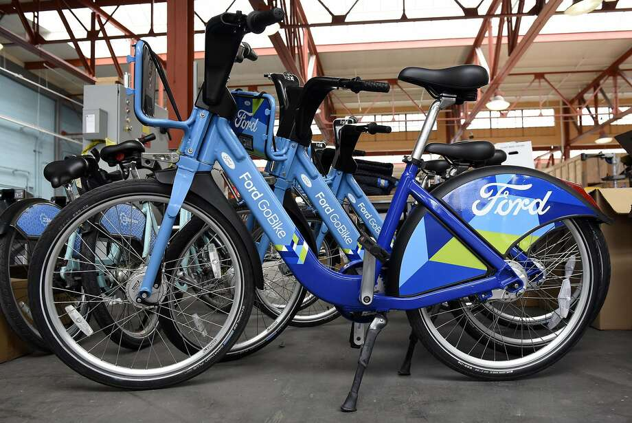 Ford GoBikes like these at Motivate in San Francisco will soon be showing up in five Bay Area cities. Photo: Michael Short, Special To The Chronicle
